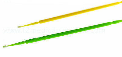 400 F2 Medical Micro Brushes, Size Medium, Assorted Colours, For Dental Use