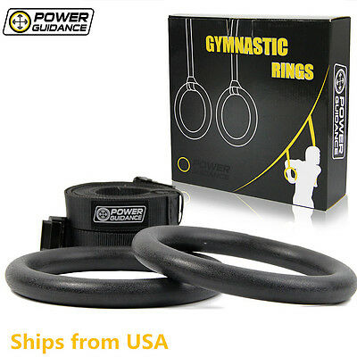 POWER GUIDANCE Gymnastic Ring ABS Olympic Gym Rings Body Strength