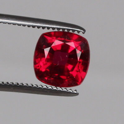 Natural Mozambique Red Ruby Top Quality 7.45 Ct Square Cut Loose Certified Gem
