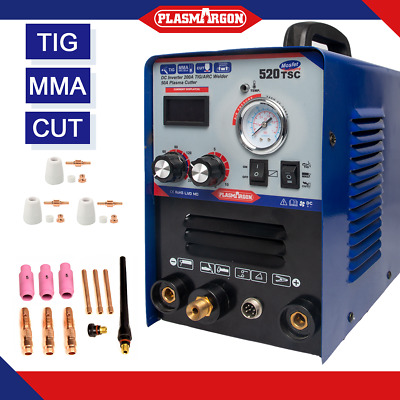 TIG Welding Machine TIG MMA ARC Inverter 3 in 1 Welder 110V/220V 520TSC