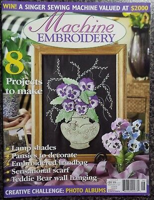 Machine Embroidery Magazine Vol.9 No.68 Projects to make,Pansies to decorate