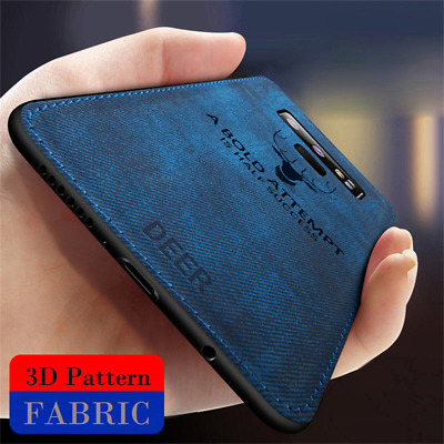 For Samsung Galaxy Note 9 S9 S10+ Hybrid Matte Soft TPU Leather Case Back Cover