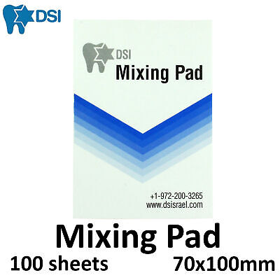 Dental Mixing Pad Coated Disposable Paper 100 Sheets Nails Manicure Palette
