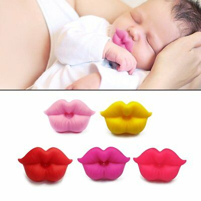 Newborn Infants Silicone Pacifier Cute Lip Mouth Baby Soother Pacifier KFBY