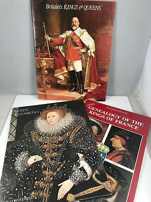 Lot of 3 Books about Kings and Queens/ Royal History - Softcovers from 1970s