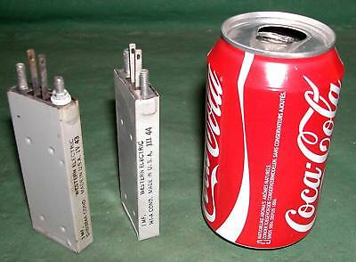 2 Oil paper capacitor  WESTERN ELECTRIC 1MFD electrolytic crossover condensateur