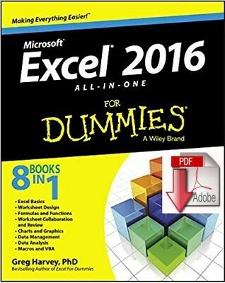 (PDF) Microsoft Excel 2016 : All-in-One for Dummies