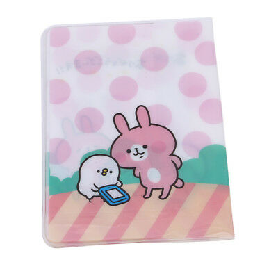 Japanese Cartoon Print Synthetic Leather Passport Cover Holder Card Case BS