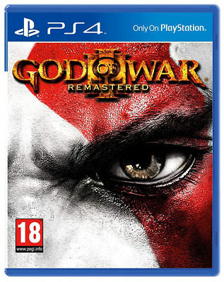 GOD OF WAR 3 III REMASTERED,PLAYSTATION 4,PS4,Bluray,Italiano,Nuovo,SIGILLATO
