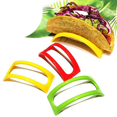 12PCS Colorful Plastic Taco Shell Holder Taco Stand Plate Protector Food Holder