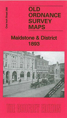 Old Ordnance Survey Map Maidstone & District 1893