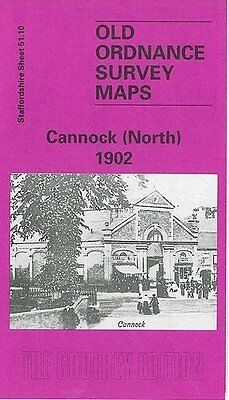 Old Ordnance Survey Map Cannock North 1902