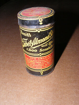 Vintage Tin Zenith Tibet Almond Stick Made In Chicago Illinois