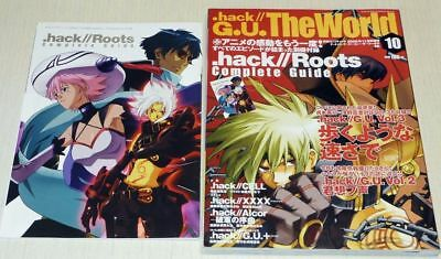 .hack//G.U.The World Book #10 w/Roots Complete Guide Book Postcard Art Magazine