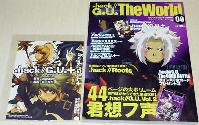 .hack//G.U.The World Book #9 w/Dust-jacket Postcard Art Guide Magazine