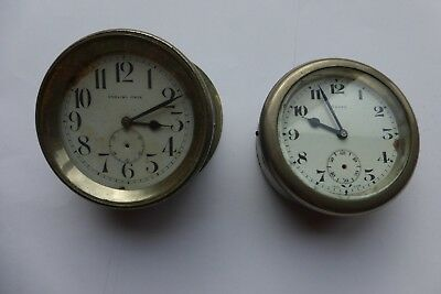 Vintage GPO 75mm Dia Hand Winding Clocks for spares or repair