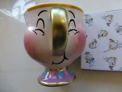 DISNEY CHIP BUBBLES MUG BEAUTY And The BEAST CUP NOVELTY COLLECTABLE RARE NEW B