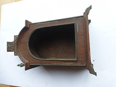 Antique mantle Clock Mahogany Case with brass inlays and finnals
