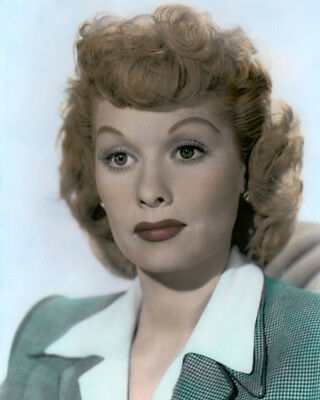 "LUCILLE BALL THE DARK CORNER 1946 ACTRESS 8x10"" HAND COLOR TINTED PHOTOGRAPH"