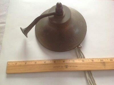 BRASS SHIP'S BELL with CLAPPER, LANYARD, AND WALL MOUNT