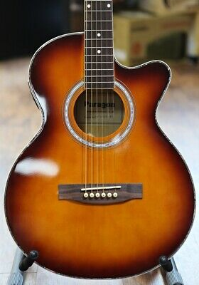 Electro Acoustic Guitar Brown In Sunburst by Paragon
