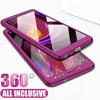 360° Full Protective Case Cover+Temper Glass Film for Samsung Galaxy A7 A9 2018
