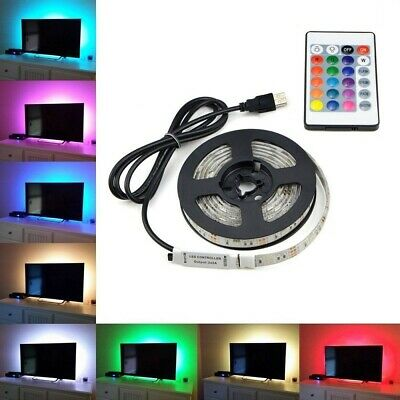 0.5-5M Ruban à LED RGB Pour HDTV USB TV Bande Led Strip Flexible Avec 5V 24 Keys