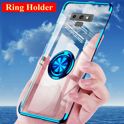 TPU Magnetic Ring Holder Stand Case Cover for Samsung Galaxy S10 Plus S10e S9 S8