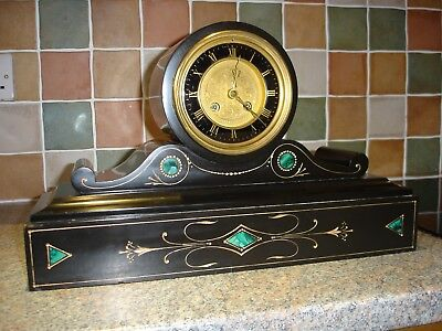 Antique Victorian French 8 day mantle clock