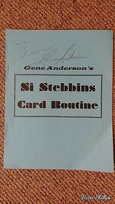 """Gene Anderson""""s Si Stebbins Card Routine 1998 By Gene Anderson SIGNED"""