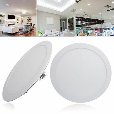 6W LED Round Recessed Ceiling Panel Down Light Bulb Slim Warm White Lamp Fixture