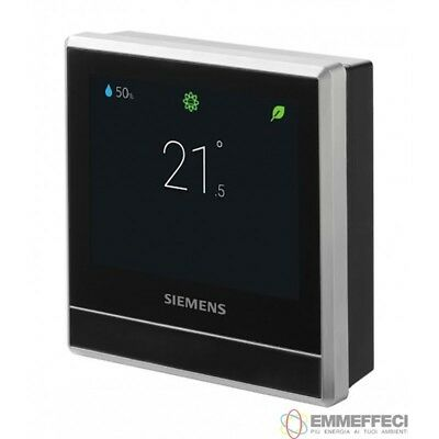 """CRONOTERMOSTATO Wi-Fii SIEMENS SMART RDS110  display touch lcd 3,5"""" - wfii wirel"""