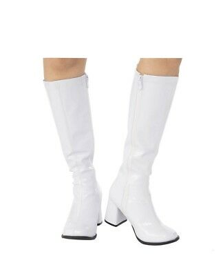 Adult GoGo Boots white halloween costume accessory