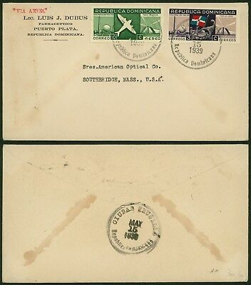 Dominican 1939 - Cover to USA 21800