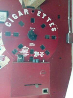Dial A Cigarette Vintage Vending Machine  Red And White C0Lor