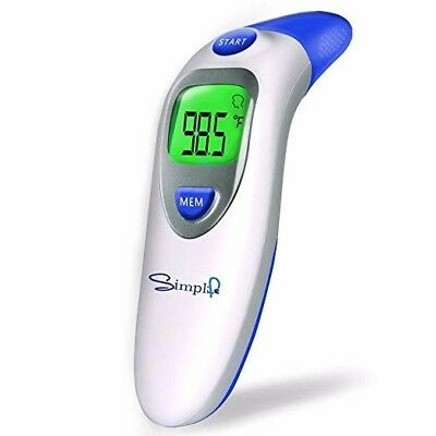 Ear and Forehead Thermometer for Fever, Digital Medical Infrared Body Temporal