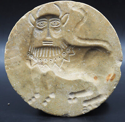 Rare Ancient Bactrian Culture 300 Bc Stone Seal Stamp #Sh0123