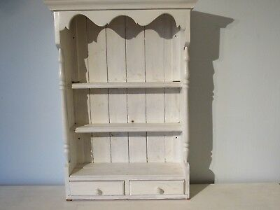 Vintage Solid Pine Wood Wall Dresser Unit Shabby Chic Country Upcycle Rustic