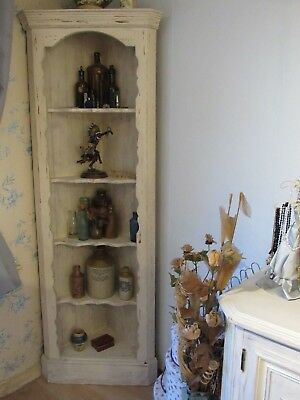 Vintage Solid Pine Wood Corner Shelving Unit Shabby Chic Country Upcycle Rustic