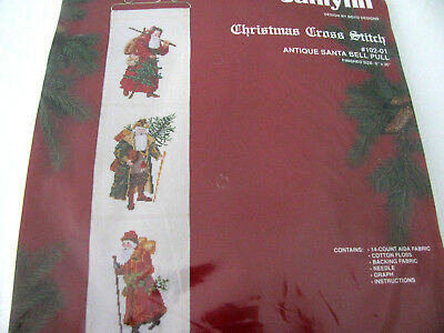 Janlynn Vintage Christmas Cross Stitch Kit *antique Santa Bell Pull* Nip