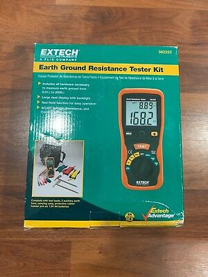 Extech 382252 Earth Ground Resistance Tester Kit New!!!