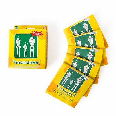 5 Disposable Vomit Urine Bag Travel John Portable Toilet Camping Hiking Outdoor