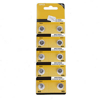 10PC 1.5V AG3 LR41 392 SR41 192 Alkaline Button Coin Cell Watch Battery Sturdy B