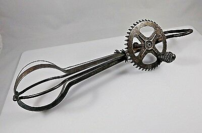 Vintage Antique Hand Held A&J Egg Beater Patented Oct 9, 1923 Made USA