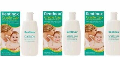 3 X DENTINOX CRADLE CAP SHAMPOO l SUITABLE  FROM  BIRTH  ONWARDS
