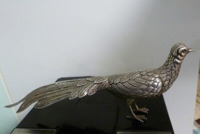 STERLING SILVER .915 PHEASANT FIGURAL MADE IN SPAIN- 145 gms. OF STERLING SILVER