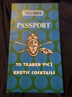 Passport To Trader Vic's Exotic Cocktails No. 0001 Rare Beautiful Condition
