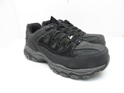 46e3d5ed4 SKECHERS WORK Men s Steel Toe Composite Plate Work Athletic Shoes Black  10.5M