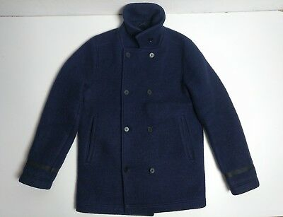 9649f899a3c Norse Projects Birk Winter Wool Coat Men s Size L   Large Jacket Peacoat  Navy