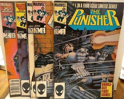 THE PUNISHER #1 2 3 4 5 (Limited Mini Series) Marvel 1985